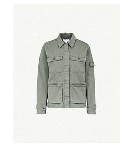 FRAME Slouchy stretch-cotton utility jacket (Platoon