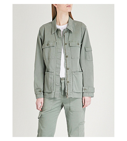 FRAME Slouchy stretch-cotton utility jacket (Platoon