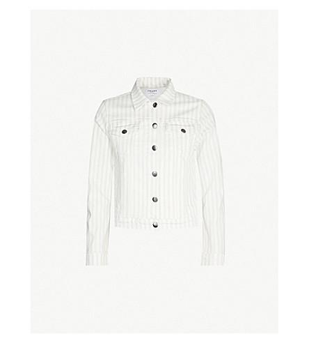 FRAME Le Vintage Bardot striped denim jacket (Courtyard