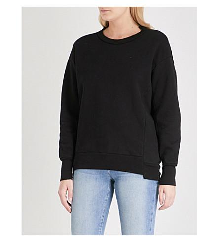 FRAME Boyfriend cotton-jersey sweatshirt (Noir