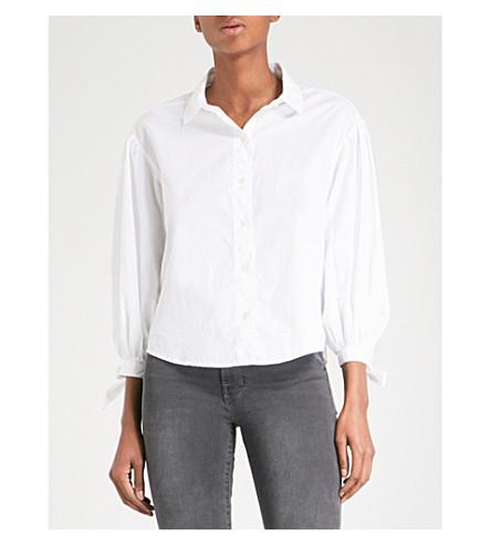 FRAME Tie Cuff cotton-poplin shirt (Blanc