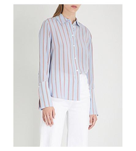 de de con de azul rayas multi rayas MARCO Camisa estampado seda 5qnpp4