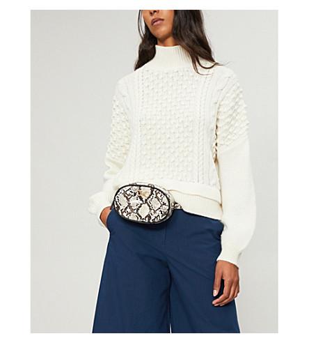 FRAME Nubby waffle-knit wool-blend turtleneck jumper (Off+white