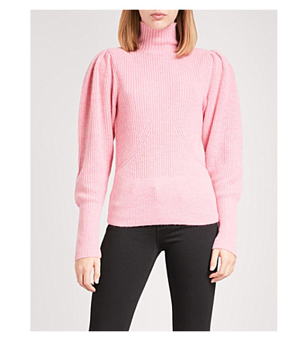 FRAME Voluminous wool and cashmere-blend jumper (Spanish+pink