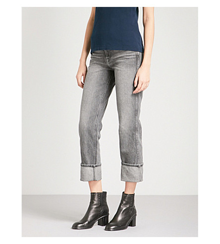 FRAME Rigid Re-release Le High straight high-rise jeans (Broderick