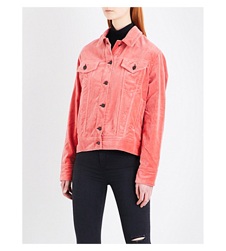 RAG & BONE Oversized cotton-velvet jacket (Wshed+red+vlv