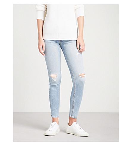 RAG & BONE Ankle slim-fit skinny mid-rise jeans (Double