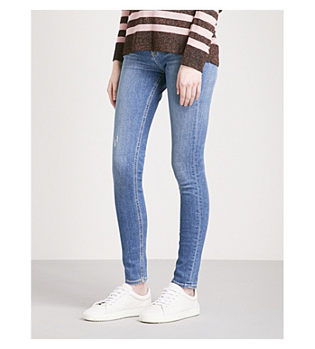 RAG & BONE Faded skinny high-rise jeans (El