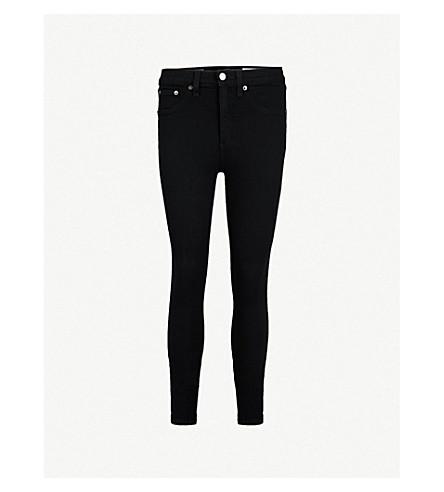 RAG & BONE Skinny high-rise jeans (Black