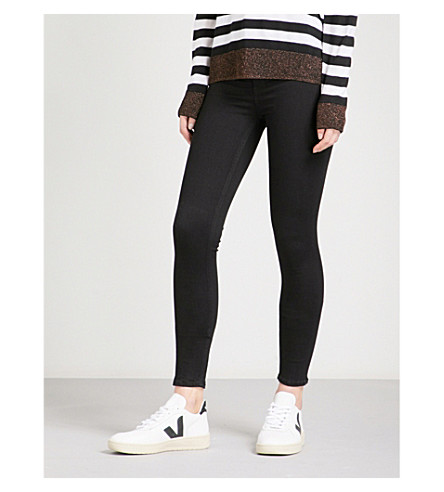 RAG & BONE Skinny high-rise jeans (Black