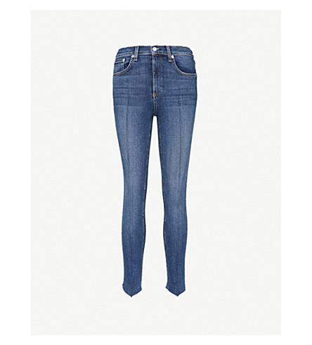 RAG & BONE Stepped-hem skinny cropped high-rise jeans (Manson