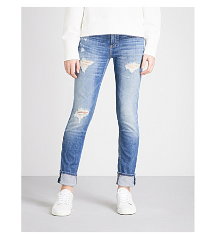 RAG & BONE Distressed straight mid-rise jeans (Erv's