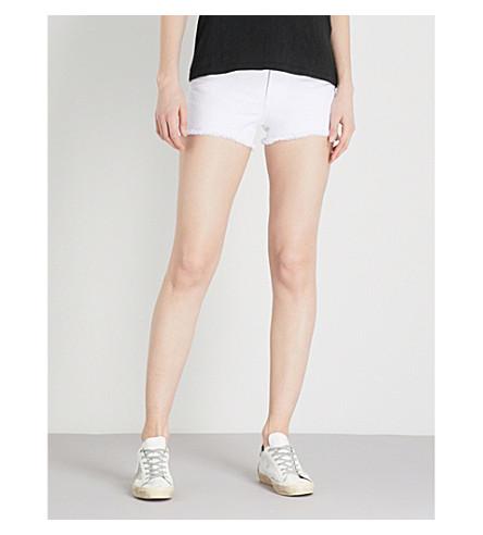 RAG & BONE Justine skinny high-rise denim shorts (White