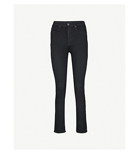 RAG & BONE Cigarette skinny high-rise jeans (Coal