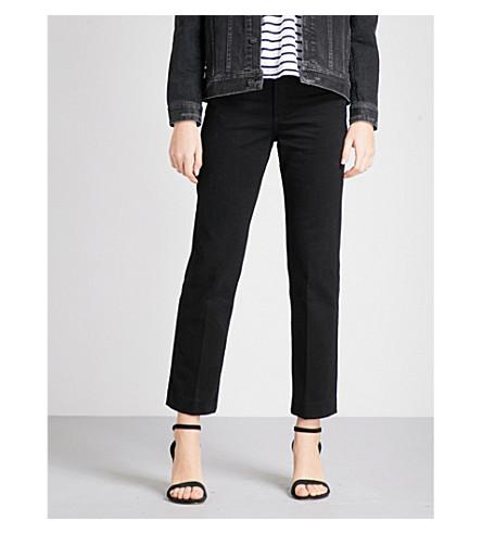 RAG & BONE Straight high-rise jeans (Blacktwill+070