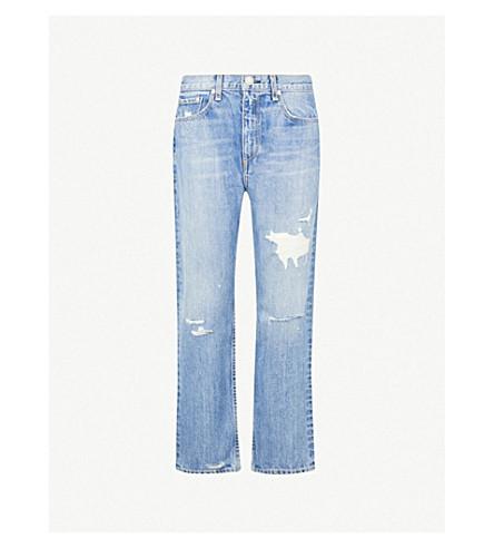 RAG & BONE Boyfriend-fit high-rise jeans (Hel w/holes
