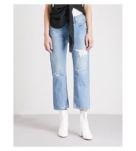 RAG & BONE Boyfriend-fit high-rise jeans (Hel+w/holes