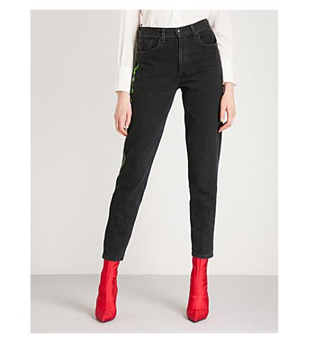RAG & BONE Mom-fit tapered high-rise jeans (Stone+kuro