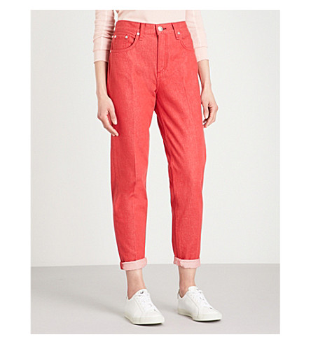 RAG & BONE Ash mom-fit straight jeans (Bull+red
