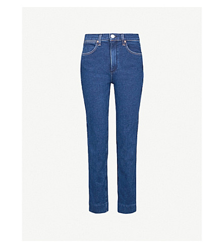 RAG & BONE Cigarette cropped high-rise jeans (Broken bloo