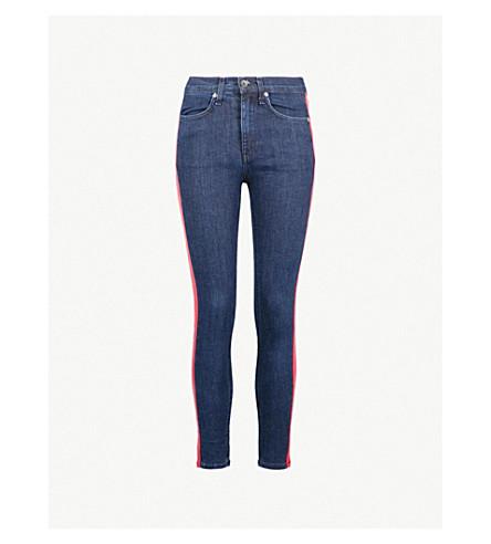 RAG & BONE Mazie side-stripe skinny mid-rise jeans (Igloo/red