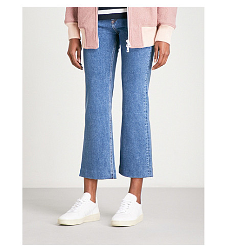 RAG & BONE Justine wide-leg cropped high-rise jeans (Stone+979