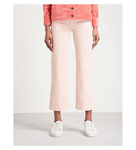 RAG & BONE Justine wide-leg cropped jeans (Blush+twill