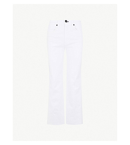 RAG & BONE Justine wide-leg high-rise jeans (White