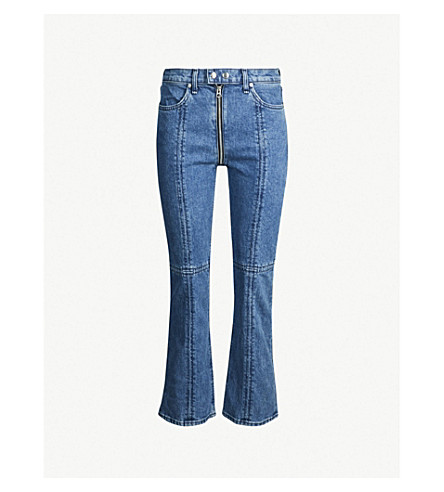 RAG & BONE Iver high-rise flared cropped jeans (Blue bain