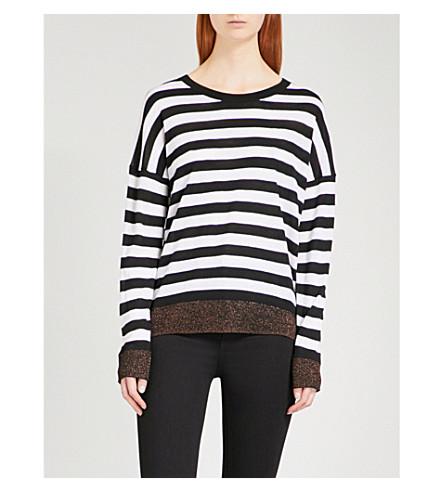 RAG & BONE June striped knitted jumper (Black+001