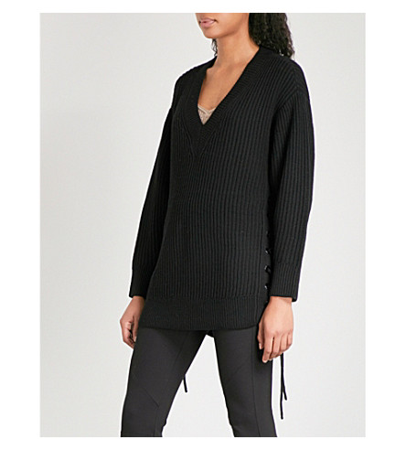 RAG & BONE Ivy wool jumper (Black+001