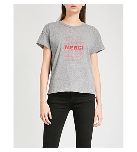 RAG & BONE Merci cotton-jersey T-shirt (Dk+htr+grey+028
