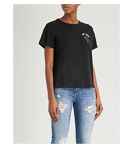 RAG & BONE Let's Dance cotton-jersey T-shirt (Black+001