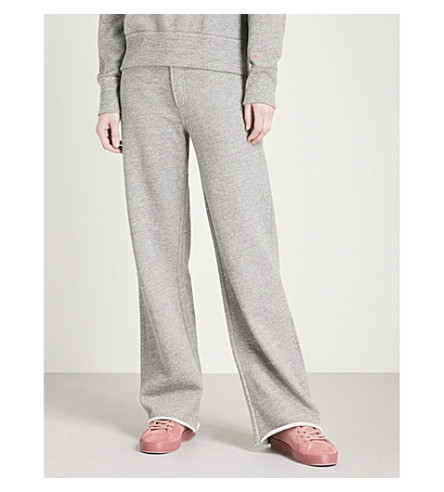 RAG & BONE Justine wide-leg cotton-jersey jogging bottoms (Heather+grey