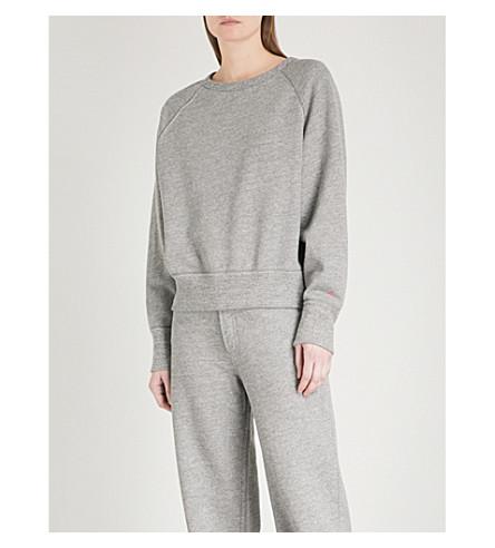 RAG & BONE Contrast-stitched cotton-jersey sweatshirt (Heather+grey