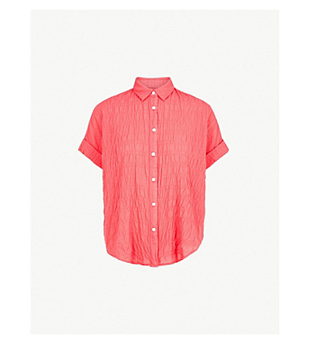 RAG & BONE Textured cotton shirt (Red+600