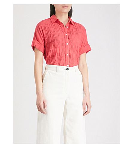 RAG & BONE Textured cotton shirt (Red+600