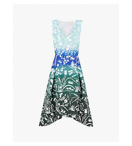 PETER PILOTTO Stencil floral-print cady dress (Stencil