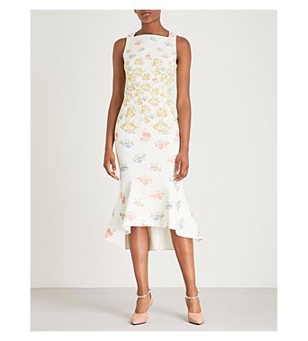 PETER PILOTTO Kia floral-print crepe dress (Fig+tree+white