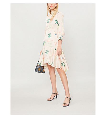 PETER PILOTTO Floral-print silk dress (White