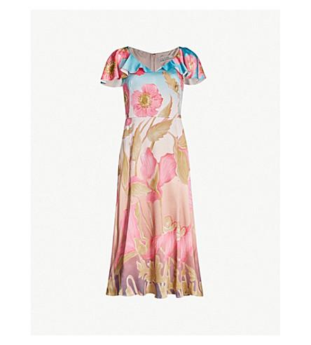PETER PILOTTO Floral-print cloqué dress (Sky poppy