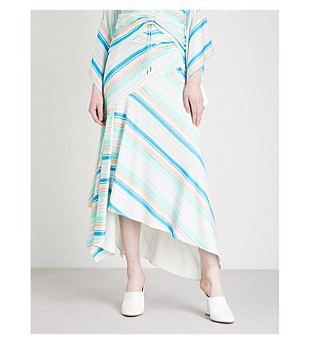 PETER PILOTTO Striped asymmetric stretch-jersey skirt (Mint