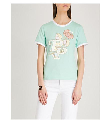 PETER PILOTTO PP floral-print cotton-jersey T-shirt (Mint