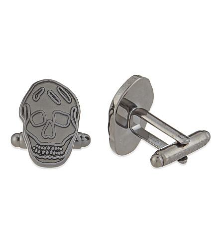 ALEXANDER MCQUEEN Skull cufflinks (Silver