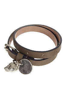 ALEXANDER MCQUEEN Leather Double Wrap Bracelet