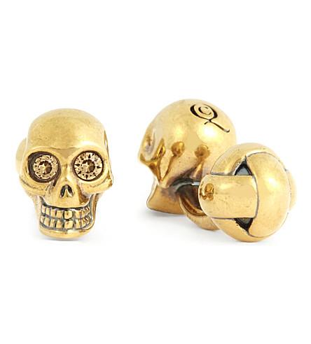 ALEXANDER MCQUEEN Skull cufflinks (Gold
