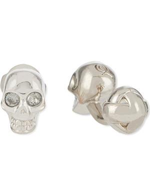 ALEXANDER MCQUEEN 3D skull cufflinks