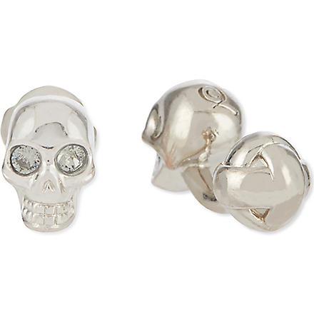 ALEXANDER MCQUEEN 3D skull cufflinks (Silver