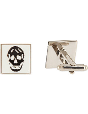 ALEXANDER MCQUEEN Square skull cufflinks