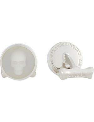 ALEXANDER MCQUEEN Circular skull cufflinks